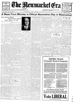 Newmarket Era (Newmarket, ON1861), July 11, 1930