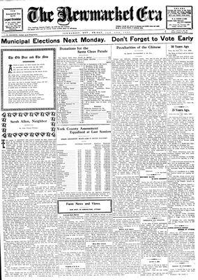 Newmarket Era (Newmarket, ON1861), 2 January 1931