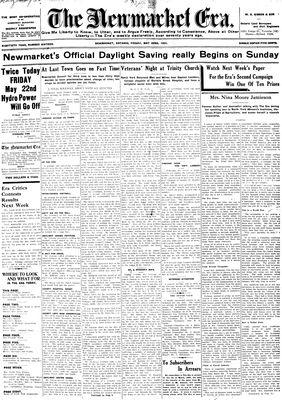 Newmarket Era (Newmarket, ON1861), May 22, 1931