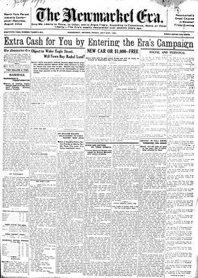 Newmarket Era (Newmarket, ON1861), July 31, 1931