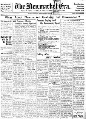 Newmarket Era (Newmarket, ON1861), November 27, 1931