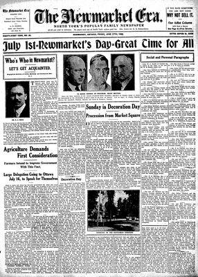 Newmarket Era (Newmarket, ON1861), June 17, 1932
