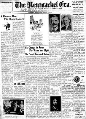 Newmarket Era (Newmarket, ON1861), February 9, 1934