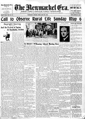 Newmarket Era (Newmarket, ON1861), May 4, 1934