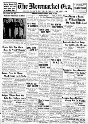 Newmarket Era (Newmarket, ON1861), March 7, 1935