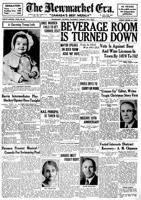 Newmarket Era (Newmarket, ON1861), January 9, 1936