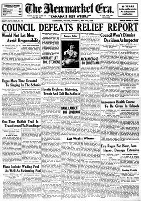 Newmarket Era (Newmarket, ON1861), May 21, 1936