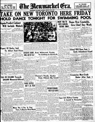 Newmarket Era (Newmarket, ON1861), August 27, 1936