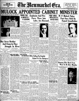 Newmarket Era (Newmarket, ON1861), July 11, 1940