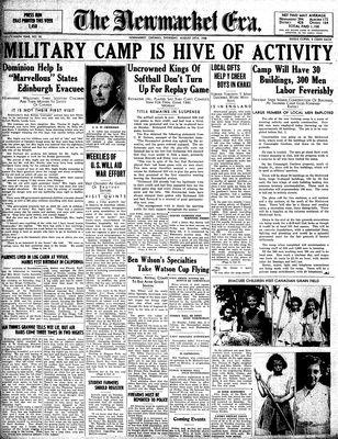 Newmarket Era (Newmarket, ON1861), August 29, 1940