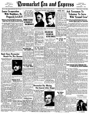 Newmarket Era and Express (Newmarket, ON), August 27, 1942