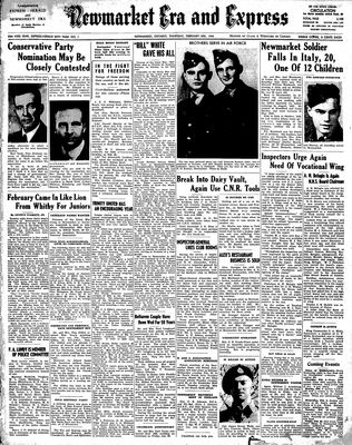 Newmarket Era and Express (Newmarket, ON), 3 Feb 1944