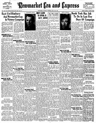 Newmarket Era and Express (Newmarket, ON), May 11, 1944
