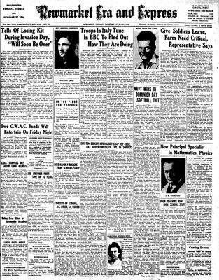 Newmarket Era and Express (Newmarket, ON), July 6, 1944