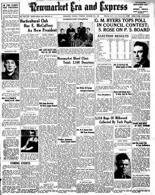 Newmarket Era and Express (Newmarket, ON), December 7, 1944