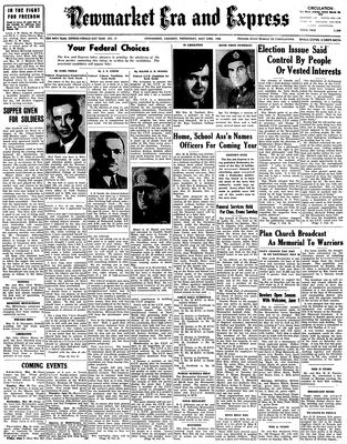 Newmarket Era and Express (Newmarket, ON), May 23, 1945