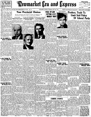 Newmarket Era and Express (Newmarket, ON), May 31, 1945