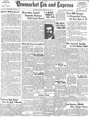 Newmarket Era and Express (Newmarket, ON), March 28, 1946
