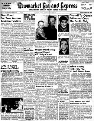 Newmarket Era and Express (Newmarket, ON), February 2, 1950