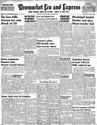 Newmarket Era and Express (Newmarket, ON), April 6, 1950