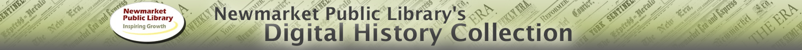 Newmarket Public Library's Digital History Collection