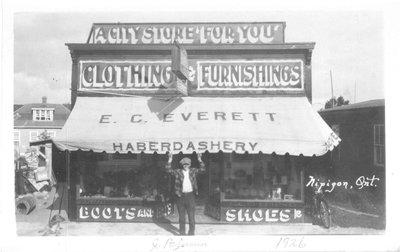 E.C. Everett's store, 1926, Nipigon, Ontario, CANADA