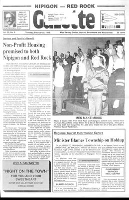 Nipigon Red-Rock Gazette, 9 Feb 1988
