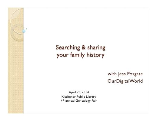 Searching your family history