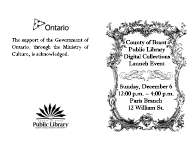 County of Brant Public Library Digital Collections Launch Event