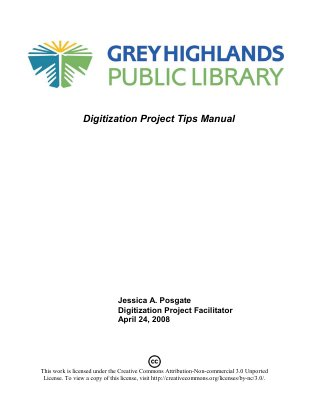 GHPL: Digitization Project Manual