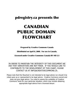 Canadian Public Domain Flowchart