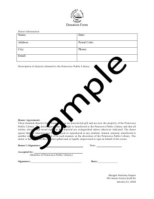 Sample Donor Form