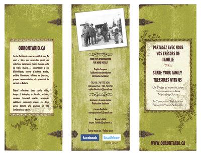 West Nipissing Ouest digitization days flyer