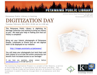 Digitization Day, Petawawa Public Library
