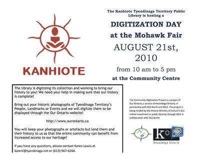 Digitization Day, Kanhiote Tyendinaga Territory