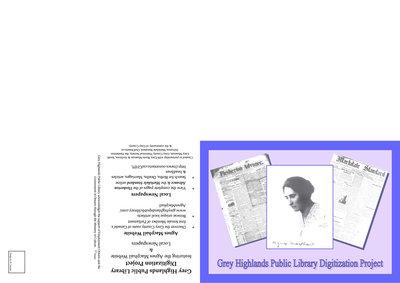 Grey Highlands Promotional Postcard, Digitization Project