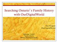 Searching your family history with ...