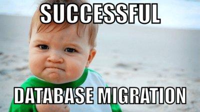 Data migration successful