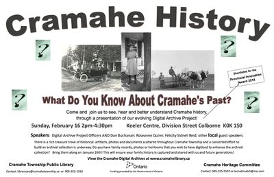 Cramahe Heritage Day Poster