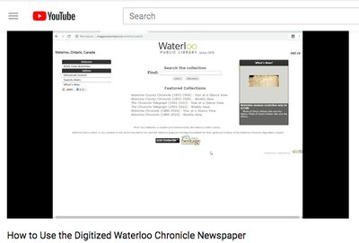 How to use the digitized Waterloo Chronicle