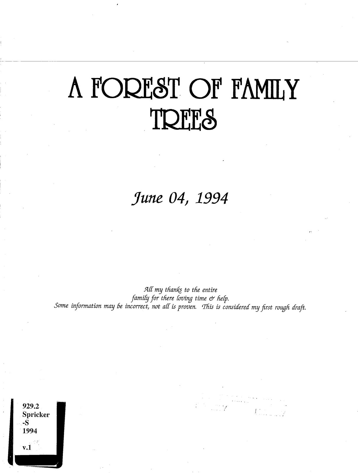 A forest of family trees