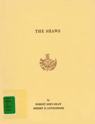 The Shaws, in 2 volumes