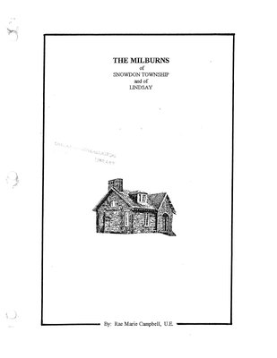 The Milburns of Snowdon Township and of Lindsay