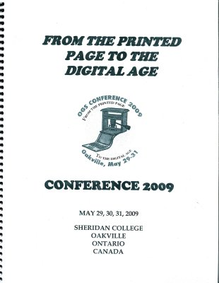 OGS Conference 2009: From the Printed Page to the Digital Age