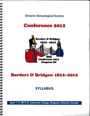 OGS Conference 2012: Borders & Bridges: 1812-2012