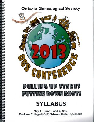OGS Conference 2013: Pulling Up Stakes Putting Down Roots
