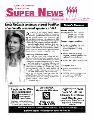 OLA Super News: Thursday, January 21, 1999