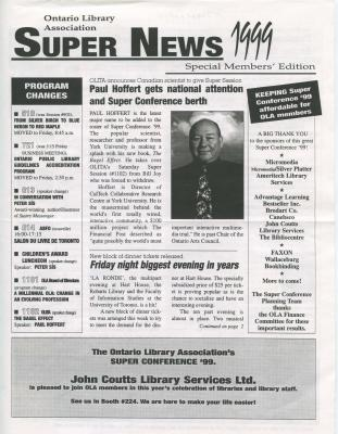 OLA Super News: Special Members' Edition 1999
