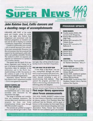OLA Super News: Friday, January 23, 1998