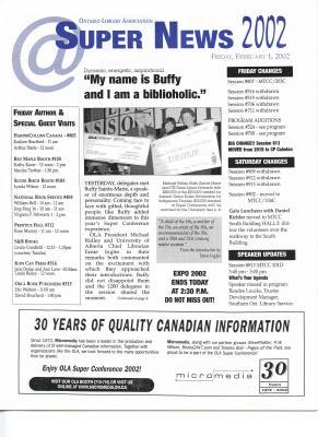 OLA Super News: Friday, February 1, 2002